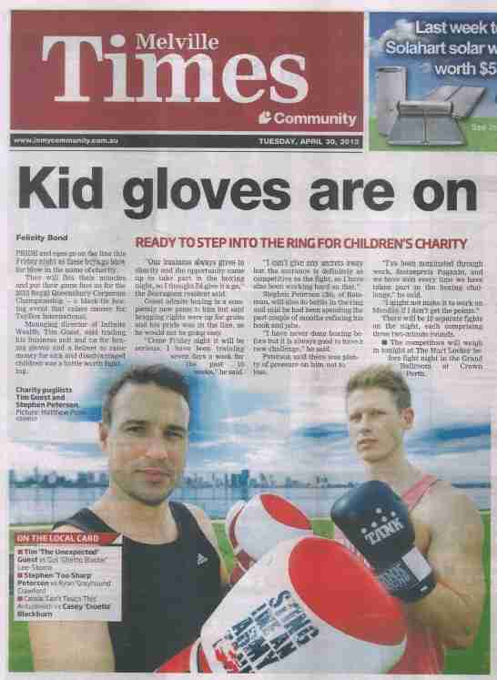 Tim Guest featured in Melville Times